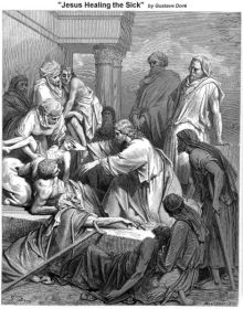 Jesus healing the sick by Gustave Dore, 19th century