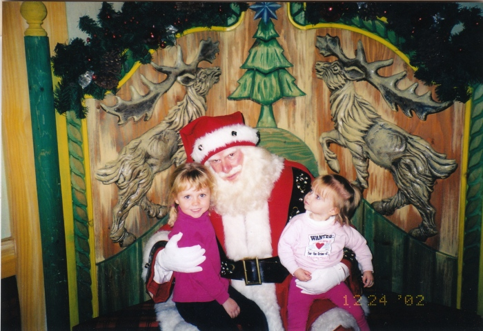 When we met Santa...